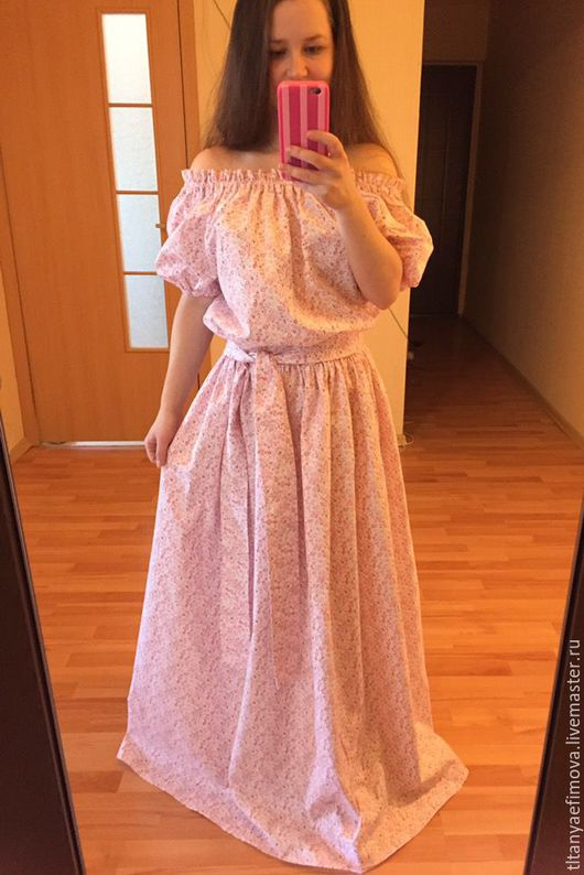 Платья ручной работы. Ярмарка Мастеров - ручная работа. Купить Платье в пол Лёгкость на лето. Handmade. Комбинированный, Санкт-Петербург