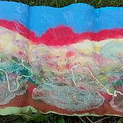 Картины и панно ручной работы. Ярмарка Мастеров - ручная работа валяная картина, панно Вечер, степь, закат.... Handmade.