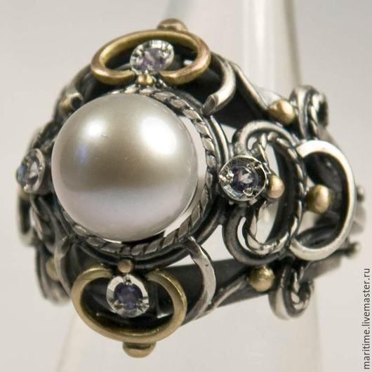 Кольца ручной работы. Ярмарка Мастеров - ручная работа. Купить Кольцо с жемчугом «Мари». Handmade. Кольцо с жемчугом, ручная работа