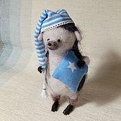 Куклы и игрушки ручной работы. Ярмарка Мастеров - ручная работа Сонный осенний ёжик. Handmade.