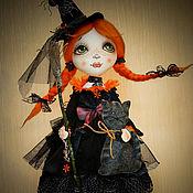 Куклы и игрушки ручной работы. Ярмарка Мастеров - ручная работа авторская кукла МАЛЕНЬКАЯ ВЕДЬМОЧКА. Handmade.