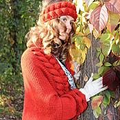 """Одежда ручной работы. Ярмарка Мастеров - ручная работа Комплект вязаный кардиган и повязка """"Подружка Осень"""". Handmade."""