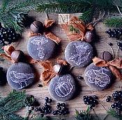 Подарки к праздникам ручной работы. Ярмарка Мастеров - ручная работа Набор ёлочных игрушек. Handmade.