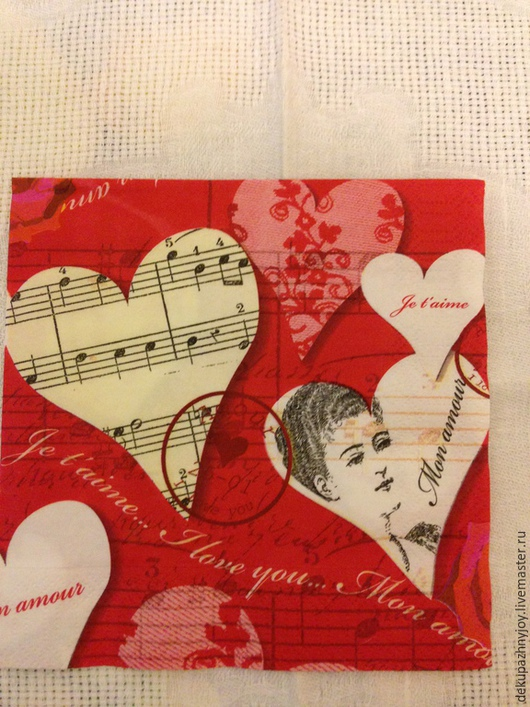 Ретро-музыка сердце- 108 Декупажная радость