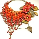 Order Fiery Parfait. Necklace made of natural stones, colors of leather. ms. Decorator. Livemaster. . Necklace Фото №3