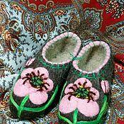 Обувь ручной работы. Ярмарка Мастеров - ручная работа Тапочки Анемоны. Handmade.