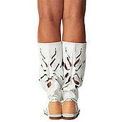 Обувь ручной работы handmade. Livemaster - original item Summer boots-mocassini genuine leather FIORE. Handmade.
