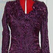 Одежда handmade. Livemaster - original item Wool dress Purple. Handmade.