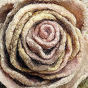 Украшения ручной работы. Ярмарка Мастеров - ручная работа брошь роза ПШЕНИЧКА. Handmade.