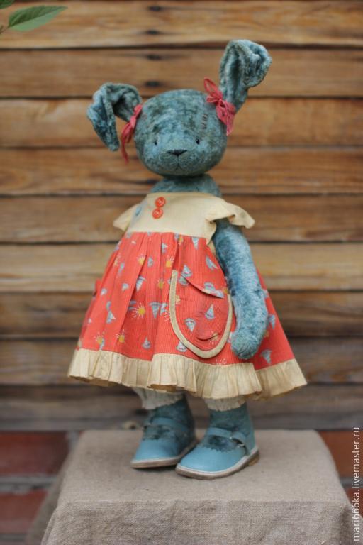 Мишки Тедди ручной работы. Ярмарка Мастеров - ручная работа. Купить Кроля Поля.. Handmade. Тёмно-бирюзовый, зайка девочка