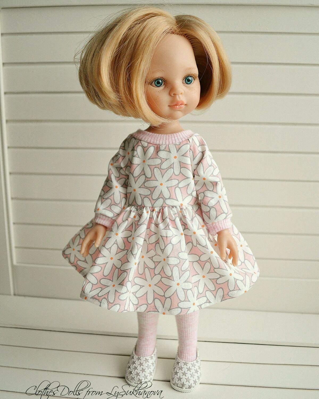 Одежда для кукол ручной работы. Ярмарка Мастеров - ручная работа. Купить Платье + колготки + туфельки для куколки Паола Рейна. Handmade.