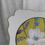 Для дома и интерьера ручной работы. Ярмарка Мастеров - ручная работа Постер в раме `Цветок на зеленом`. Handmade.