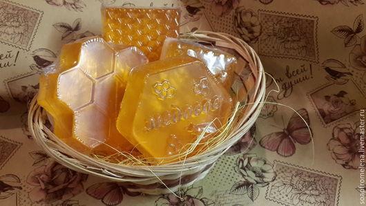 """Мыло ручной работы. Ярмарка Мастеров - ручная работа. Купить Мыло """"МЕДОВОЕ"""" с натуральным мёдом. Handmade. Рыжий, мыловарение"""