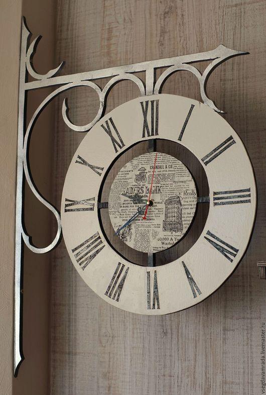 Часы для дома ручной работы. Ярмарка Мастеров - ручная работа. Купить Часы настенные. Handmade. Белый, ручная работа