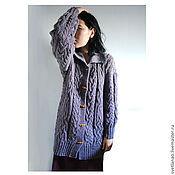 Одежда handmade. Livemaster - original item Purple haze cardigan in Merino wool. Handmade.