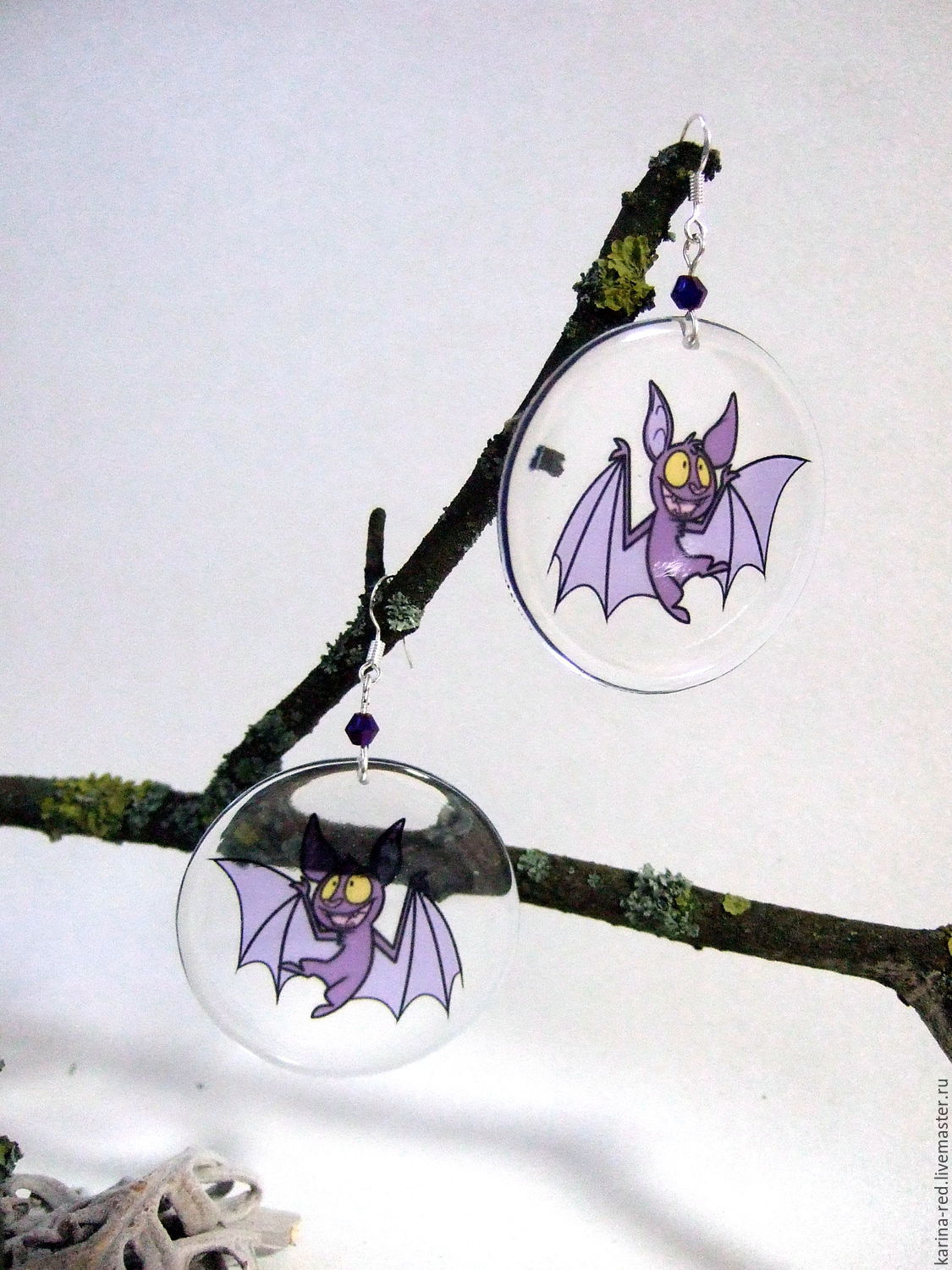 buy transparent earrings bat earrings vinyl record jewelry gift handmade of epoxy resin epoxy jewelry to buy an original gift holiday cartoon character