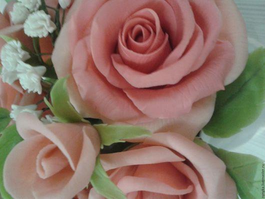 Цветы ручной работы. Ярмарка Мастеров - ручная работа. Купить Нежность утра. Handmade. Флористика, реалистичные цветы, букет