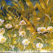 Картины и панно handmade. Livemaster - original item Daisies in the meadow. Mixed media. Handmade.