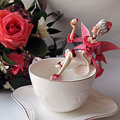 Куклы и игрушки handmade. Livemaster - original item The tea fairy in the circle of