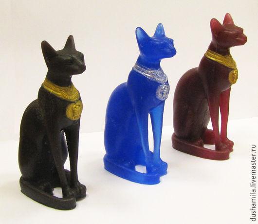 Мыло ручной работы. Ярмарка Мастеров - ручная работа. Купить Мыло Кошка египетская. Handmade. Бордовый, мыло котенок
