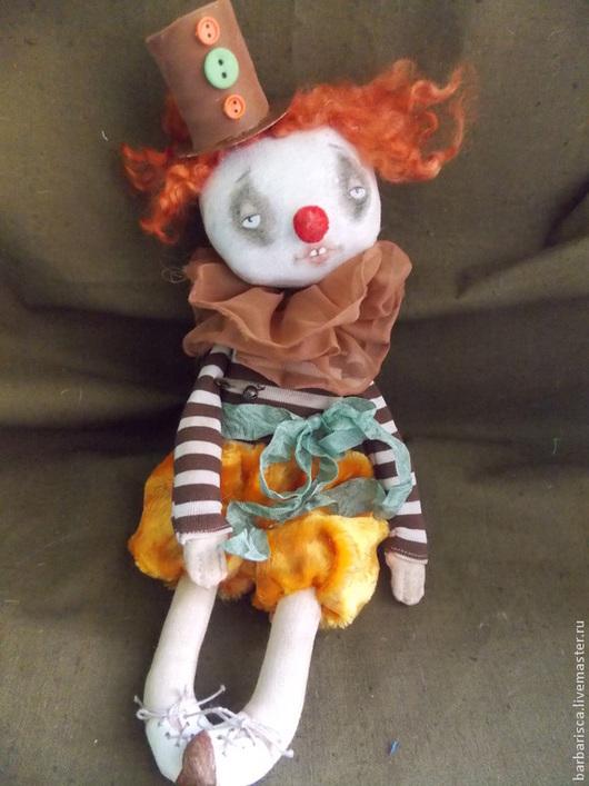 Коллекционные куклы ручной работы. Ярмарка Мастеров - ручная работа. Купить Клоун старого цирка. Handmade. Коричневый, винтажный цирк