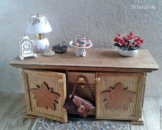 Мебель для кукол Кукольная миниатюра Кукольная мебель Аксессуары для кукол Кукольный дом домик Мини-комод Ручная работа Необычный подарок Миниатюра для кукол Коллекционная миниатюра Миниатюра 1 к 12