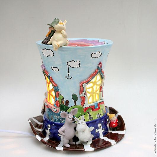 """Освещение ручной работы. Ярмарка Мастеров - ручная работа. Купить Ночник """"Волшебная шляпа Мумми-Троллей"""". Керамика. Handmade. Мумики"""