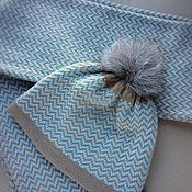 Аксессуары ручной работы. Ярмарка Мастеров - ручная работа Шапочка и шарф из мериноса с кашемиром. Handmade.