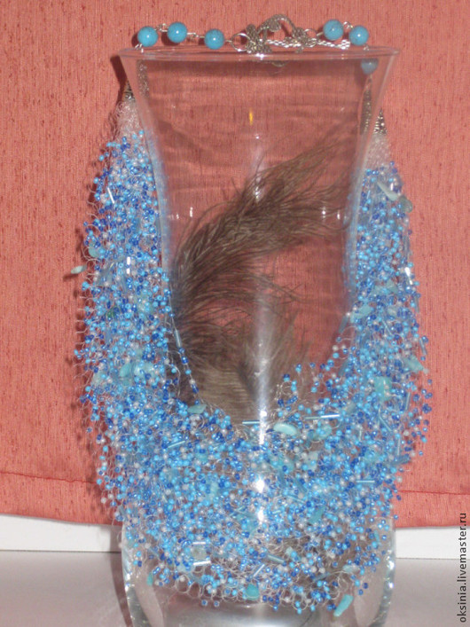 """Колье, бусы ручной работы. Ярмарка Мастеров - ручная работа. Купить Воздушное колье """"Голубая лагуна"""". Handmade. Воздушное колье"""