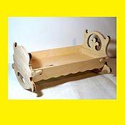 Куклы и игрушки handmade. Livemaster - original item Cradle for dolls, a cradle (on order). Handmade.