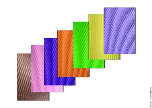 Фоамиран (ФОМ ЭВА) рельефный 2 мм , рисунок  точки
