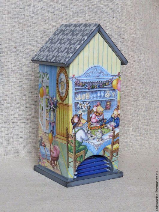 """Кухня ручной работы. Ярмарка Мастеров - ручная работа. Купить Чайный домик """"С днем рождения, Пепита !"""". Handmade."""