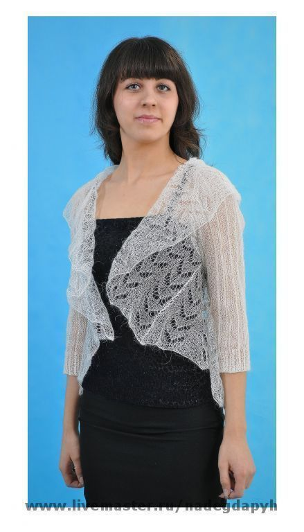 Bolero & Shrug Clothing handmade. Livemaster - handmade. Buy 27-Bolero white duvet Soft, clothing.