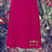 """Одежда ручной работы. Ярмарка Мастеров - ручная работа теплая миди юбка """"Ягодная"""". Handmade."""