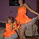 Платья ручной работы. Ярмарка Мастеров - ручная работа. Купить Одинаковая одежда для всей семьи. Handmade. Рыжий, одежда для женщин, яркие