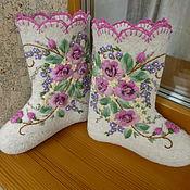 Обувь ручной работы. Ярмарка Мастеров - ручная работа Вышитые валенки. Handmade.