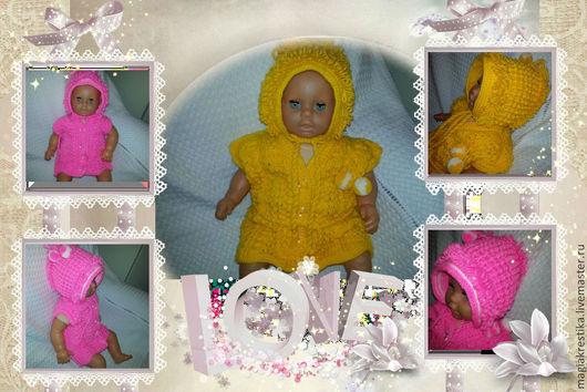 Для новорожденных, ручной работы. Ярмарка Мастеров - ручная работа. Купить Вязанный костюмчик для детей. Handmade. Жилет вязанный, шапка