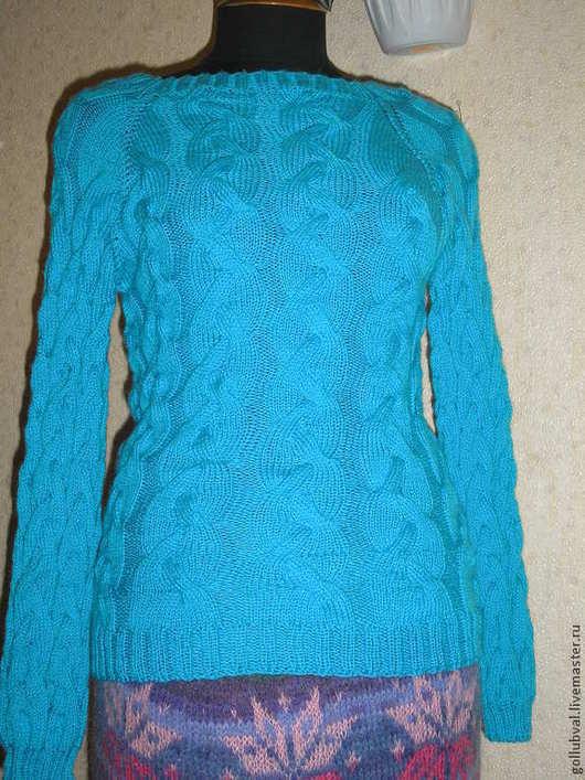 Кофты и свитера ручной работы. Ярмарка Мастеров - ручная работа. Купить пуловер с разрезом  на спине. Handmade. Пуловер вязаный