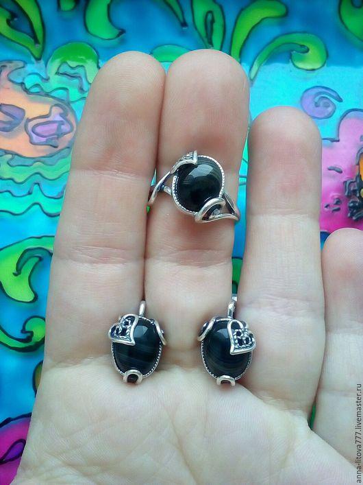 Комплекты украшений ручной работы. Ярмарка Мастеров - ручная работа. Купить 157 Комплект серебрение серьги и кольцо  с камнями. Handmade.
