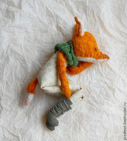 Коллекционные куклы ручной работы. Ярмарка Мастеров - ручная работа. Купить Little Friend. Handmade. Рыжий, тедди-лис