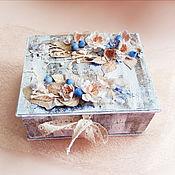 """Свадебный салон ручной работы. Ярмарка Мастеров - ручная работа """"Вечное цветение"""", коробочка для свадебной """"казны"""", подарка.. Handmade."""