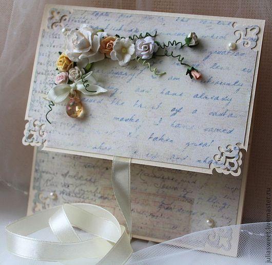 """Подарки на свадьбу ручной работы. Ярмарка Мастеров - ручная работа. Купить Конверт для диска """"Воспоминания..."""". Handmade. Бежевый, конверты"""