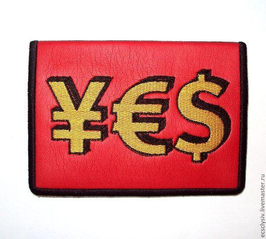 """Обложки ручной работы. Ярмарка Мастеров - ручная работа. Купить Обложка для паспорта  """"Да!"""". Handmade. Обложка, обложка для документов, презент"""