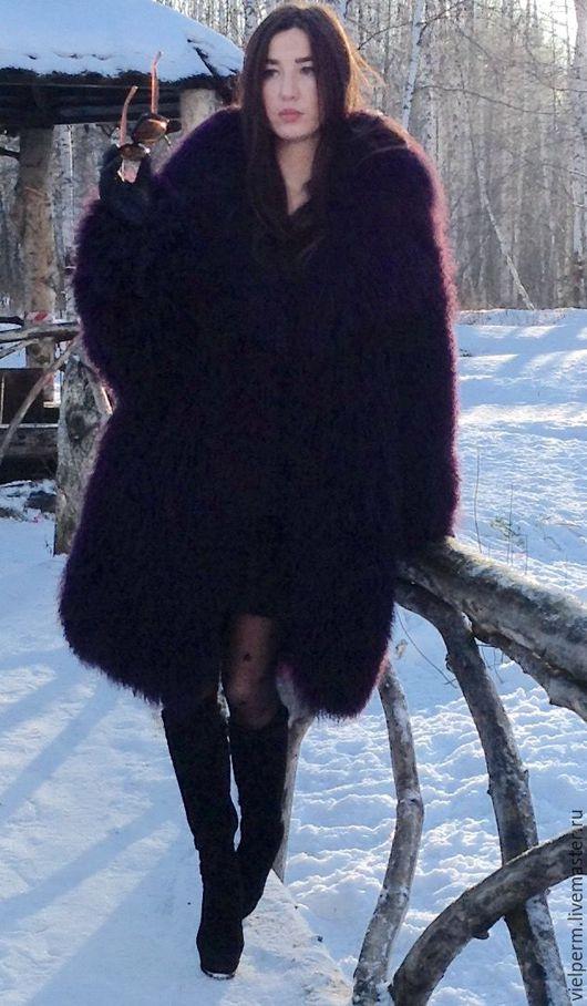 Верхняя одежда ручной работы. Ярмарка Мастеров - ручная работа. Купить Шуба из ламы. Handmade. Бордовый, шуба, шуба из ламы