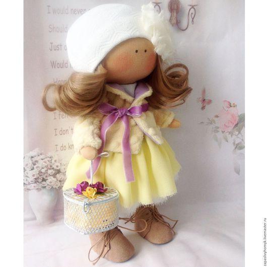Куклы тильды ручной работы. Ярмарка мастеров -ручная работа. Интерьерная кукла купить. Текстильная кукла. Жёлтый. Handmade