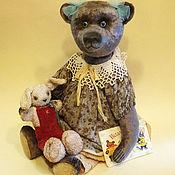 """Куклы и игрушки ручной работы. Ярмарка Мастеров - ручная работа Портретный медведь Тедди. """"Мишка с зайчиком""""). Handmade."""