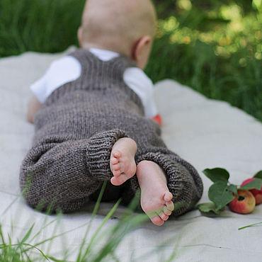 Товары для малышей ручной работы. Ярмарка Мастеров - ручная работа Полукомбинезон вязаный детский. Handmade.