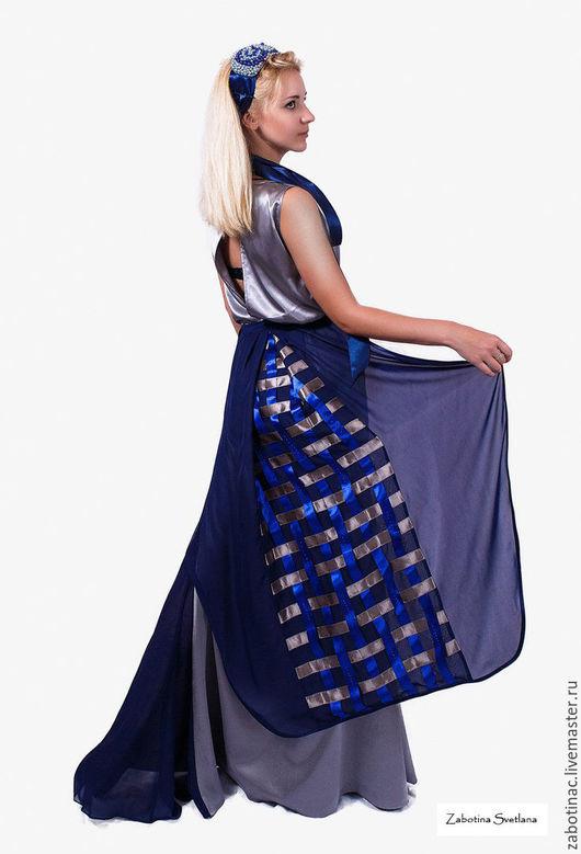 """Платья ручной работы. Ярмарка Мастеров - ручная работа. Купить платье женское серое длинное в пол """"холодное сердце"""". Handmade."""