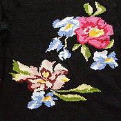 """Одежда ручной работы. Ярмарка Мастеров - ручная работа Свитер с вышивкой """"Тропические цветы"""". Handmade."""