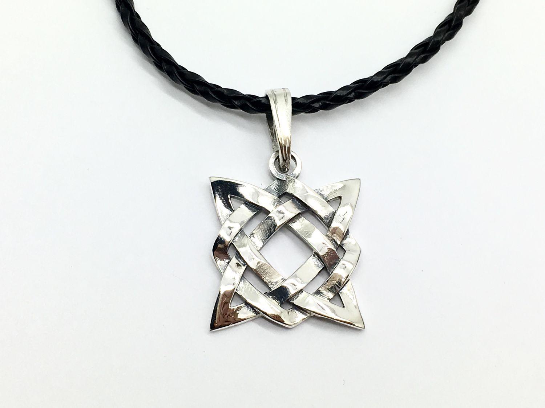 Pendant talisman amulet Star of Russ, square Svarog silver, Pendants, Moscow,  Фото №1